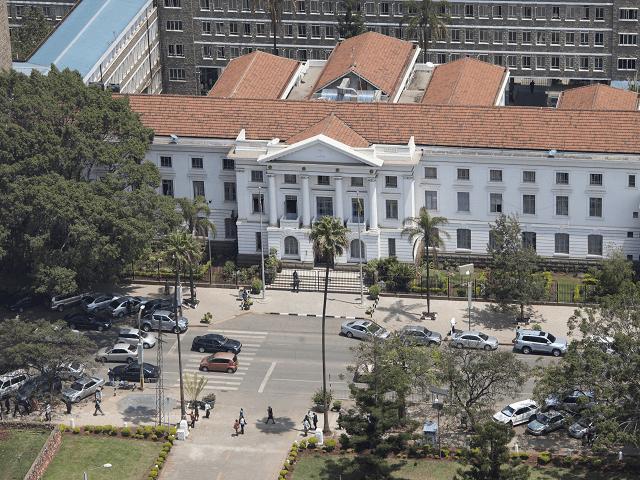 Keňa, Nairobi - pohľad na radnicu zo vzduchu