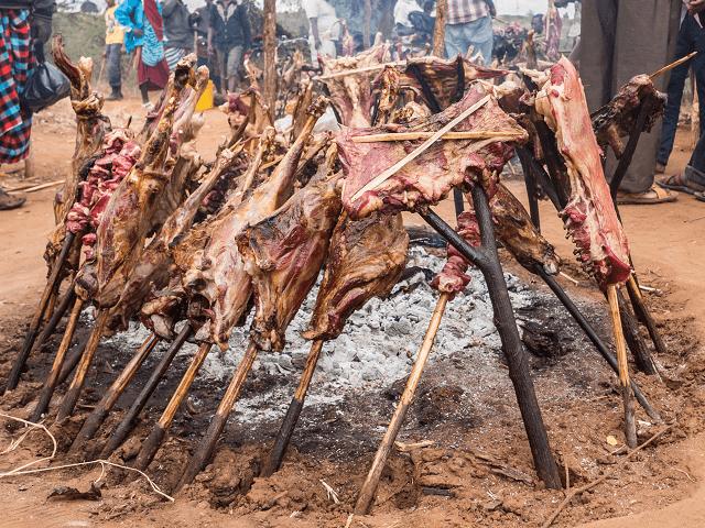 Pečené mäso, Keňa, Afrika