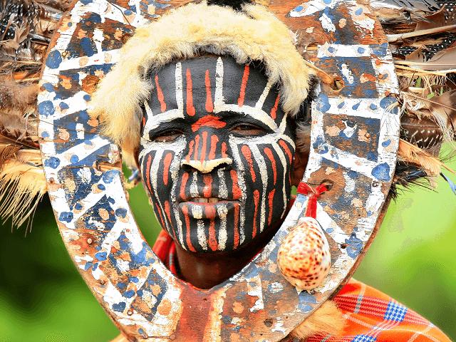 Portrét kenského domorodca kmeňa Nkuru, Afrika