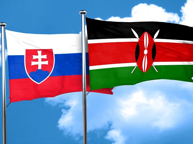 Slovenská a kenská štátna vlajka
